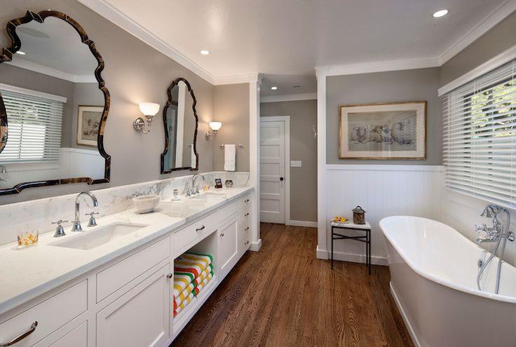 Wall color is Benjamin Moore Northern Cliffs -Jessica Risko Smith Interior Design - bathrooms -
