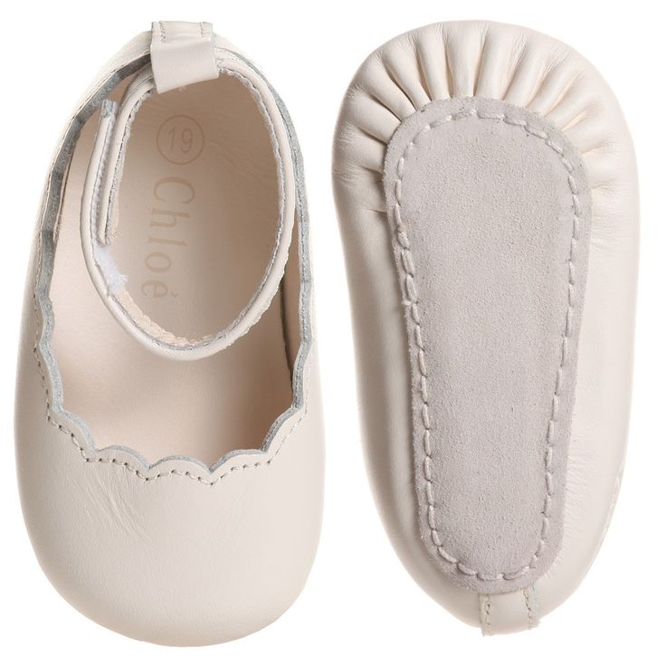 chloe baby girls pink leather pre-walker shoes