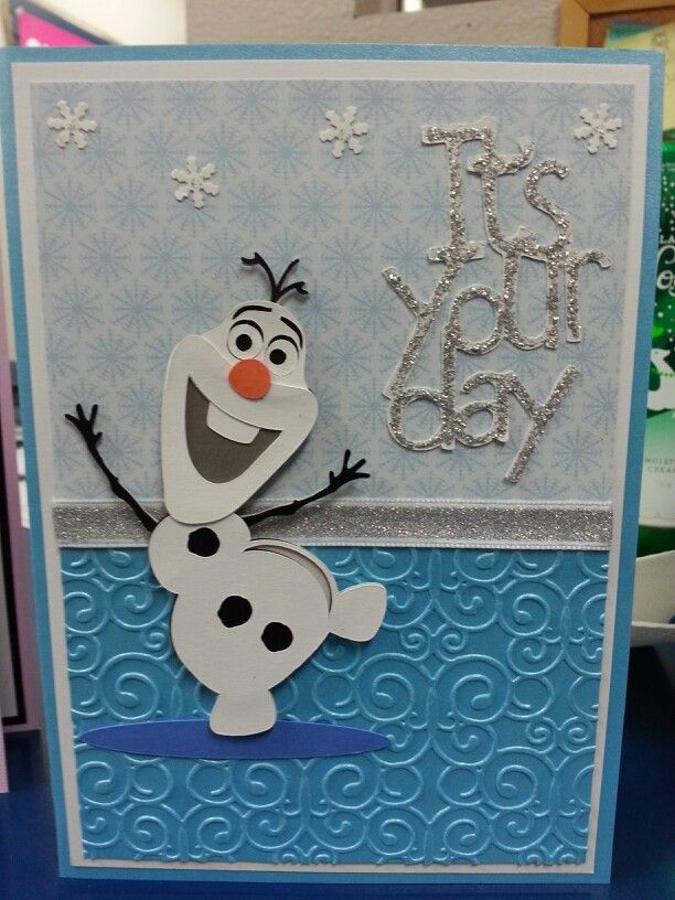 Frozen Olaf handmade birthday card