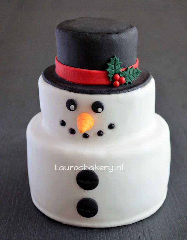 Advent 1: Sneeuwpop Taart - Laura's Bakery