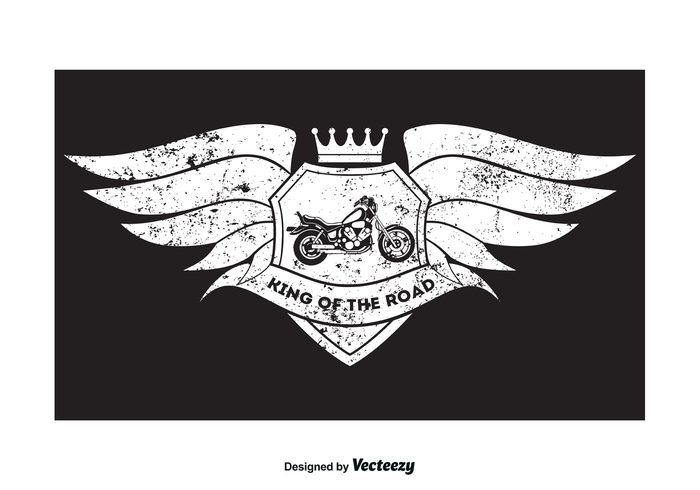 Free vector Grunge Style Motorcycle T Shirt Design #24089