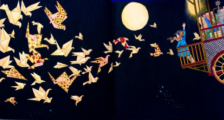 The Night Voyage. Daria Song. Coloured by Prue from Colouring+ with Prue.