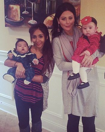 Snooki, JWoww Share Christmas Photos With Baby Girls Giovanna, Meilani - Us Weekly
