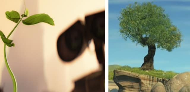 The tree is thought to be the same one Carl and Ellie picnic under in Up, and the one from Jessie's song about Emily in Toy Story 2. It's just a sweet little tie-in that Disney fanatic Matthew Gottula came up with.—Anna Kopsky