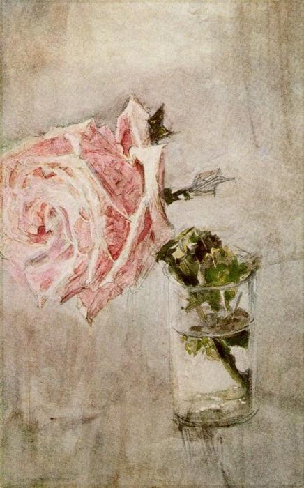 "Mikhail Aleksandrovitch Vrubel  ""Rose in a Glass""    (via aunaturalflowers)"