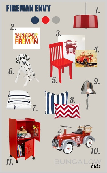 Fireman Envy Room Design Board