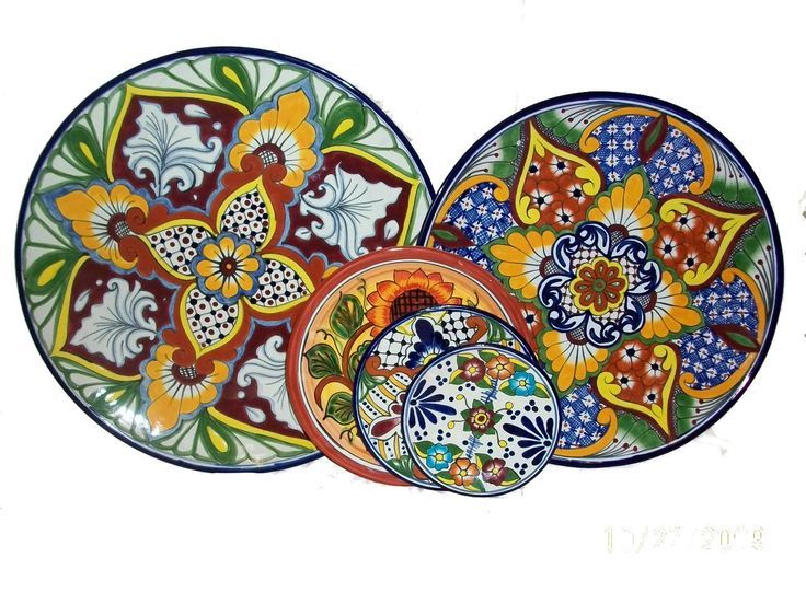 decorative talavera plates from Mexico