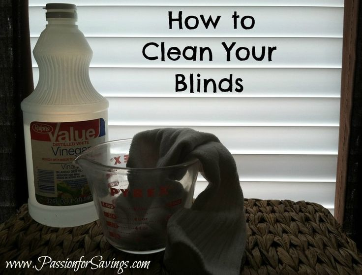 An easy trick to make cleaning your blinds a little easier. #cleaningtips