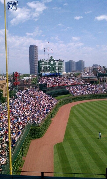 The friendly confines of Wrigley Field. Chicago Cubs.