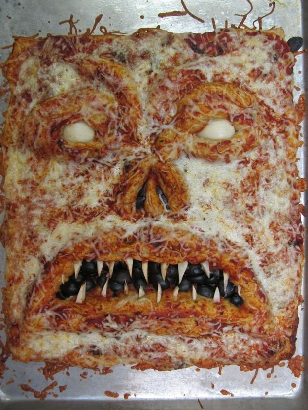 Evil Dead Necronomicon Pizza | Community Post: The Ultimate Collection Of Creepy, Gross And Ghoulish Halloween Recipes