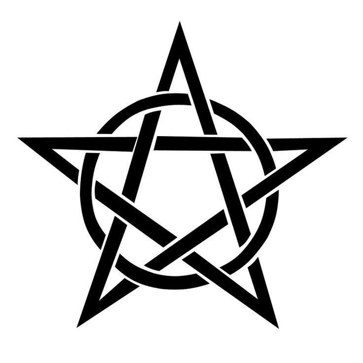 Pin By ۦ ـ ر ي ـۦ ــۦ ــه ــۦ On ملحقات تصميم Pentagram Tattoo Pentacle Tattoo Wiccan Symbols