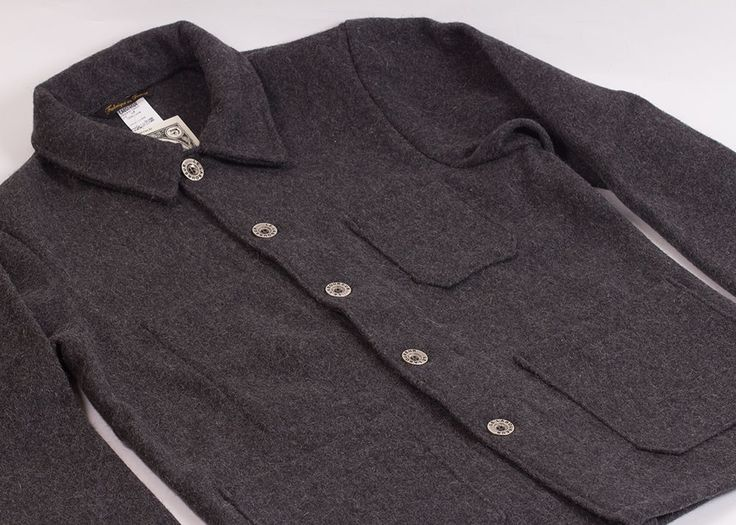 Le Laboureur Burel Wool Work Jacket | Gris | Apparel | Accessories ...