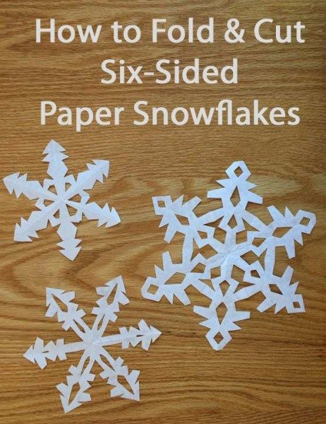 6 sided snowflake instructions