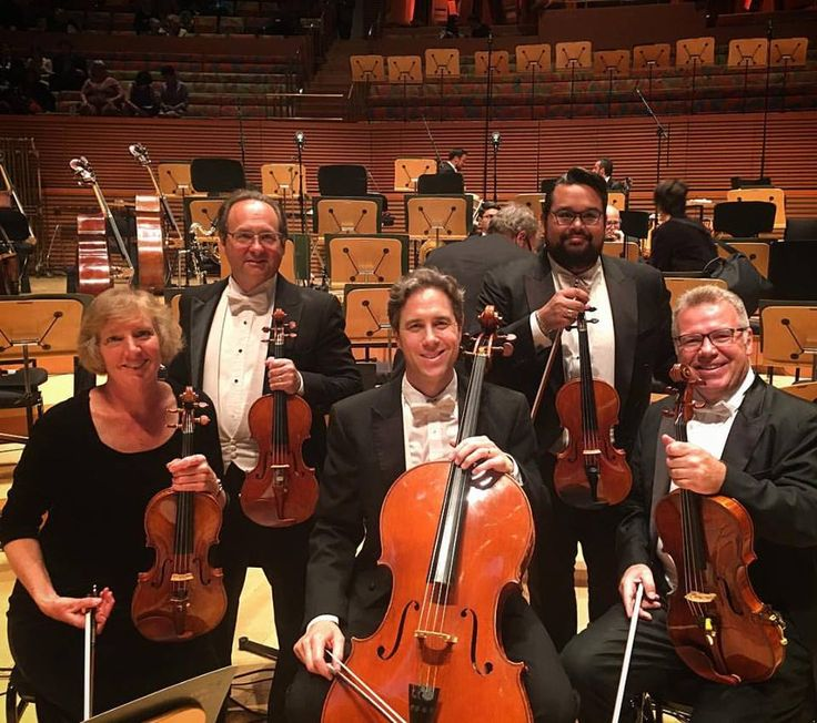 A wonderful photo taken of the members of the LA Phil who play on Eric Benning instruments. I am both proud and humbled. Thank you to you all: Vijay Lynne Gupta,  Mick Wetzel, Jonathan Karoly, Mitchell Newman, and Stacey Wetzel. #wow #proudandhumbled #luthier #liuteria #violinist #violin #violist #viola #cello #cellist #laphil #lovemyjob