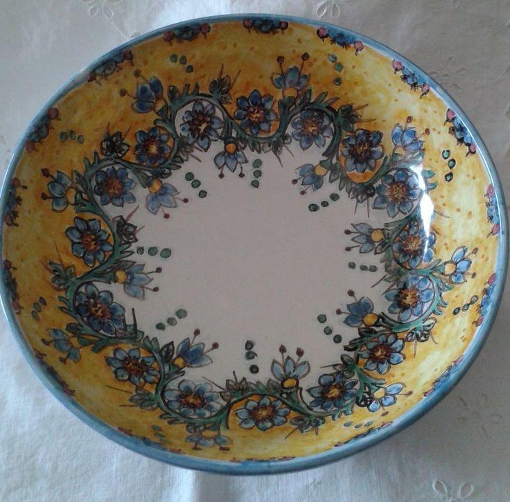 Ciotola / Spaghettiera / Insalatiera in ceramica dipinta a mano. Dec. Floris, by ilciliegio, 20,00 € su misshobby.com