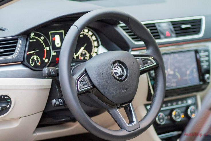 Interiér Škoda Superb 3 Combi - http://autotrip.cz/test-skoda-superb-3-combi/