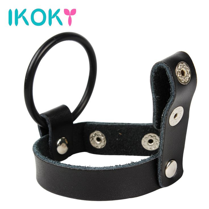 IKOKY Cock Ring Silicone Cock Ring Penis Sleeve Leather For Men SM Bondage Set Kit Male Chastity Belt Device Sex Toys #clothing,#shoes,#jewelry,#women,#men,#hats,#watches,#belts,#fashion,#style