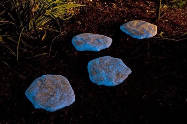 Glow In The Dark Rocks   Backyard Ideas for Small Yards To DIY This Spring
