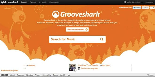 Grooveshark inhabilitó su biblioteca de música en línea http://j.mp/1GNaUhk |  #Copyright, #Grooveshark, #Musica, #Spotify, #Tecnología