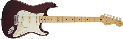 Fender American Standard Stratocaster Solid-Body Electric Guitar with Hard-Shell Case, Bourdeux Metallic * More info could be found at the image url.