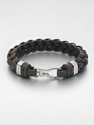 Tod's - Braided Leather Bracelet - Saks.com $225