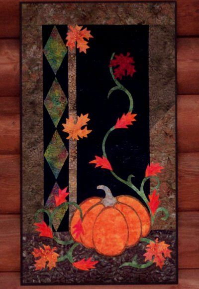 Jewels of Autumn quilt pattern, would look great in wool felt