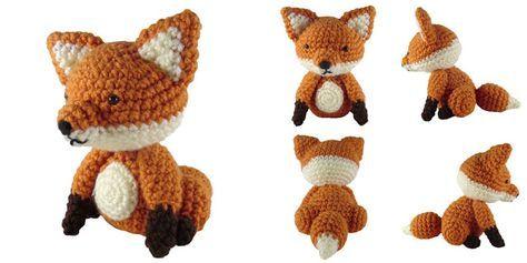 i crochet things: Free Crtochet Pattern Friday: Sitting Fox Amigurumi, stuffed toy, #haken, gratis patroon (Engels), zittende vos, knuffel, speelgoed, #haakpatroon
