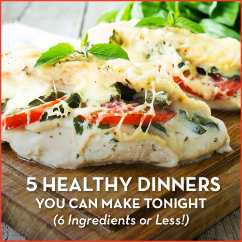 You only need 6 ingredients for these 5 healthy and quick week night dinners that make meal prep a snap!