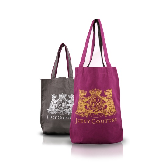 Juicy Couture Double Face Cotton Bag on glamouronthego.co.uk