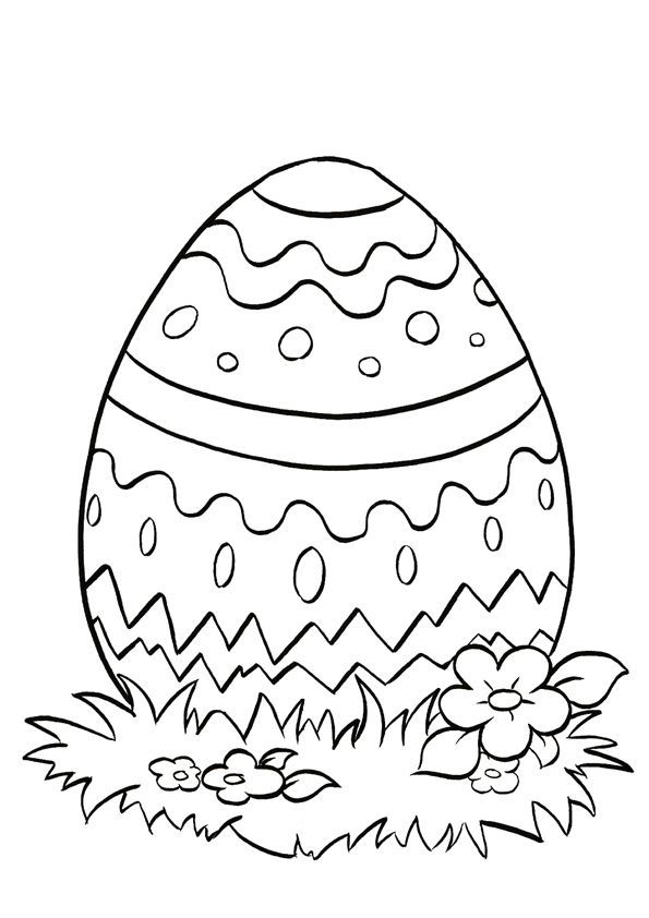 Easter Coloring Page | Easter coloring pictures, Easter ...