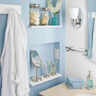 Best Bathroom Niches Shelving Storage Images On Pinterest