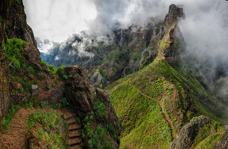 Madeira mountains by Olga Land, via 500px