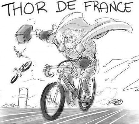 Thor De France: Laughing, Bike, Comic, Avengers Assembl, Funny Stuff, De France, Humor, Thor De, Superhero