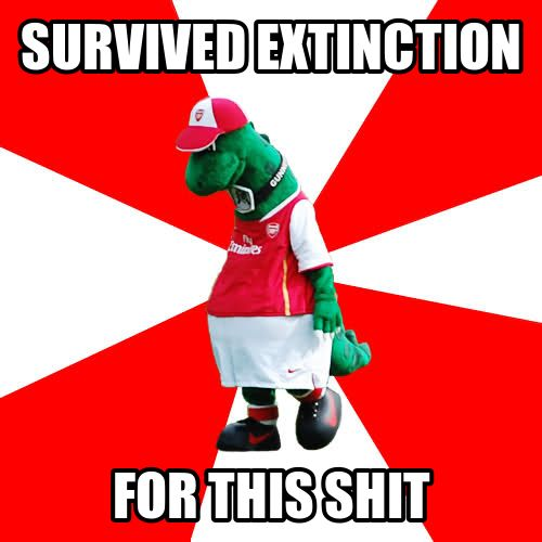 The Gunnersaurus Arsenal Meme.