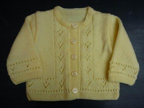 Veste tricotee main