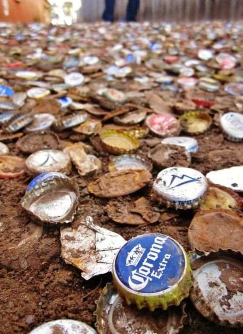 Bottle Cap Alley on Northgate :: College Station, TX. ~ Check this out too ~ RollTideWarEagle.com sports stories that inform and entertain and Train Deck to learn the rules of the game you love. #Collegefootball Let us know what you think. #Aggies