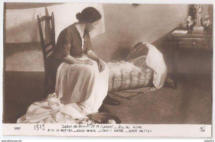 """Carte Postale Ancienne """"JUNGE MUTTER"""" - M. B. LORIMY - Salon de Paris - France."""