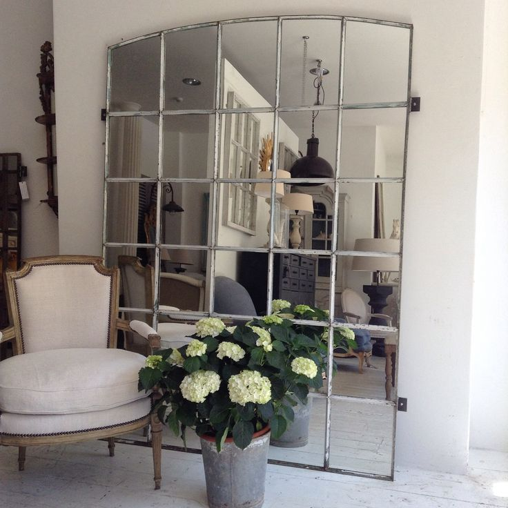 XXL Industrial window mirror,great in garden design or inside
