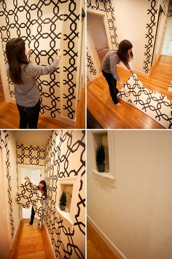 How did I not know this existed? Renter's Wallpaper! Temporary wallpaper you can easily remove when you move. or change a bedroom! Sherwin Williams Easy Change
