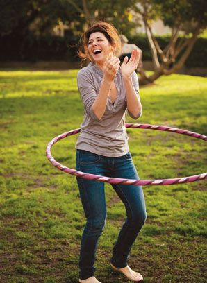 Marisa Tomei gives the hoop a whirl.