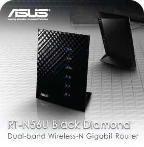 Newegg.com - ASUS RT-N56U Wireless Router Dual Band N600 Multimedia Ultra Slim Gigabit 802.11a/b/g/n support USB Storage, Print and Media Server (top performance review at smallnetbuilder.com)