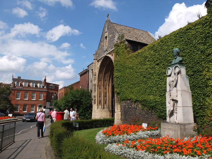 Edith Cavell Statue - outside Norwich Cathedral