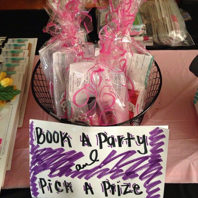 Offer a small incentive for your party guests to book their next party with you!