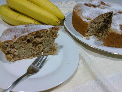 Bolo de banana com aveia