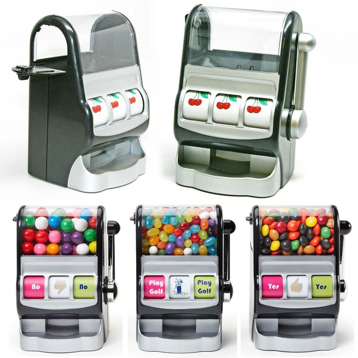 JACKPOT CASINO MACHINE SHAPE THEMED CANDY DISPENSER