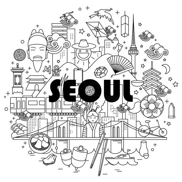 Seoul illust on Behance