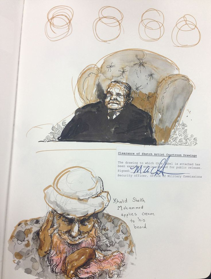 Khalid Sheikh Mohammed's Pretrial Hearings at Gitmo, Molly Crabapple