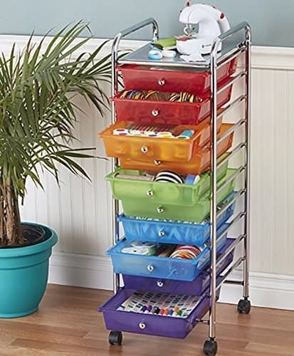 """Promising review: """"This is the most useful cart ever! I keep one in my laundry room and it is perfect for organizing small household items. The trays are easy to wipe clean and remove if you need to transport them to another place. The cart itself is pretty sturdy — we even have a small printer on the top of ours."""" —GRC+JECPrice: $34.99"""