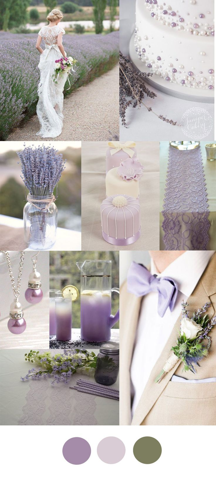 Rustic Wedding Color Ideas With Purple Lace