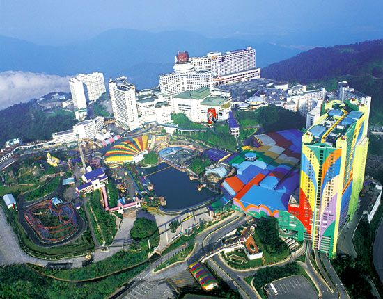 Genting Highland Theme Park, Malaysia  I ? this place.. it's really fun..I enjoyed all the rides, especially the flying coaster, and that colorful building is the First World Hotel, the biggest hotel I've ever stayed. It has more than 6,000 rooms.